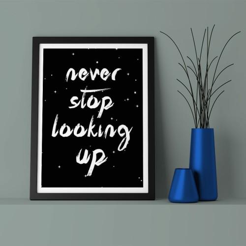 Never Stop Çerçeveli Poster