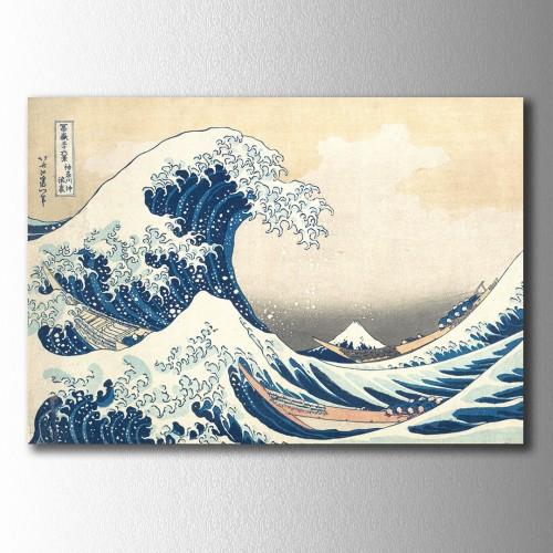 Ando Hiroshige Wave Kanvas Tablo