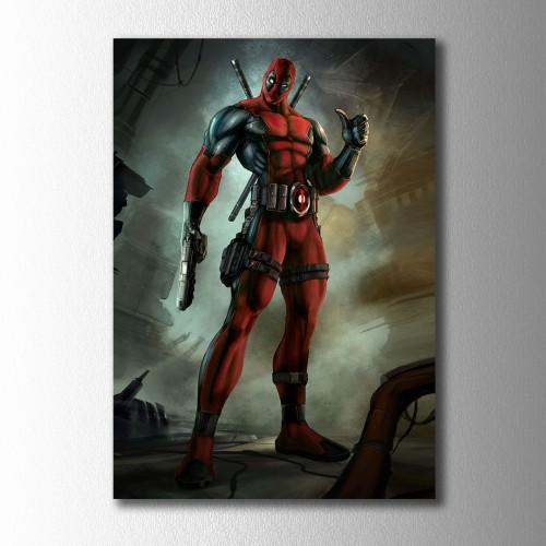 Deadpool Çizgi Dizi Kanvas Tablo