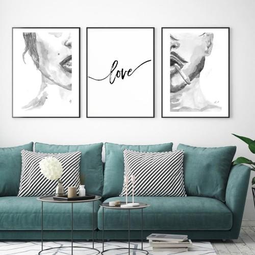 Lovers Çerçeveli Poster Seti