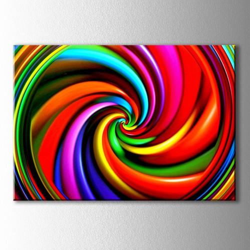 Renk Girdabı Kanvas Tablo