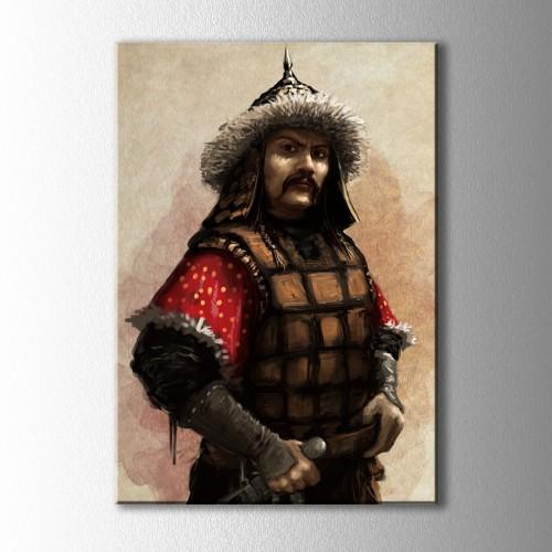 Moğol Savaşçı Kanvas Tablo