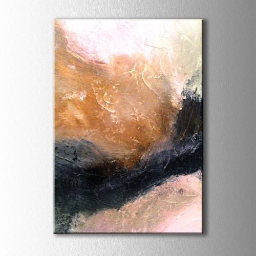 Kum Fırtınası Soyut Kanvas Tablo