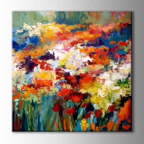 Çiçek Tarlası Kanvas Tablo