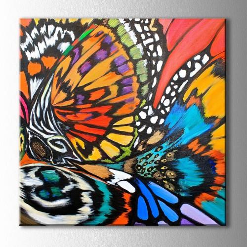 Kelebek Rüyası Soyut Kare Kanvas Tablo