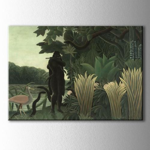 Ormandaki Kadın Kanvas Tablo
