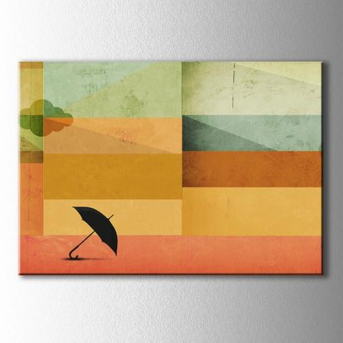 Şemsiye Günün Renkleri Kanvas Tablo