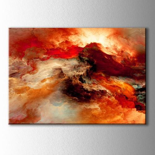 Soyut Ateşin Renkleri Kanvas Tablo