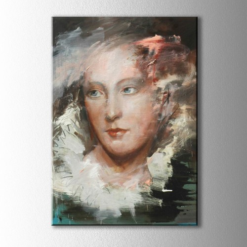 Soyut Yağlı Boya Portre Kanvas Tablo