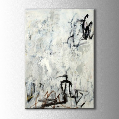 Soyut Kirli Beyaz Kanvas Tablo