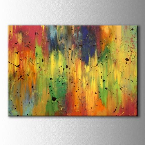 Soyut Geçişli Renkler Kanvas Tablo