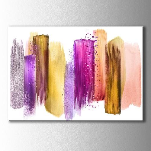 Soyut Püskürtme Renkler Kanvas Tablo