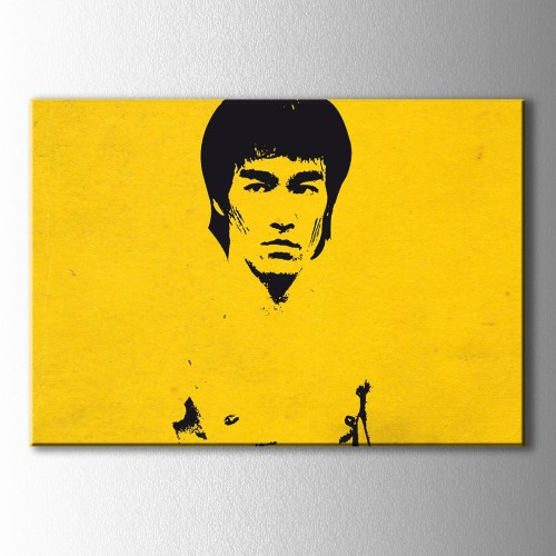 Bruce Lee Sarı Kanvas Tablo