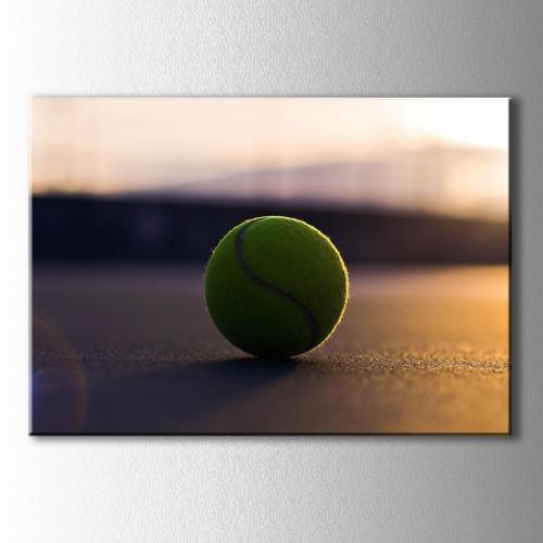 Gün Batımında Tenis Topu Kanvas Tablo