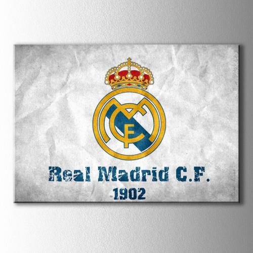 Real Madrid Logo Kanvas Tablo