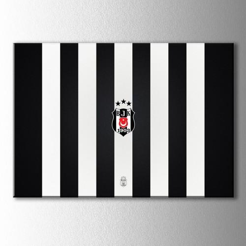 Beşiktaş Çubuklu Kanvas Tablo