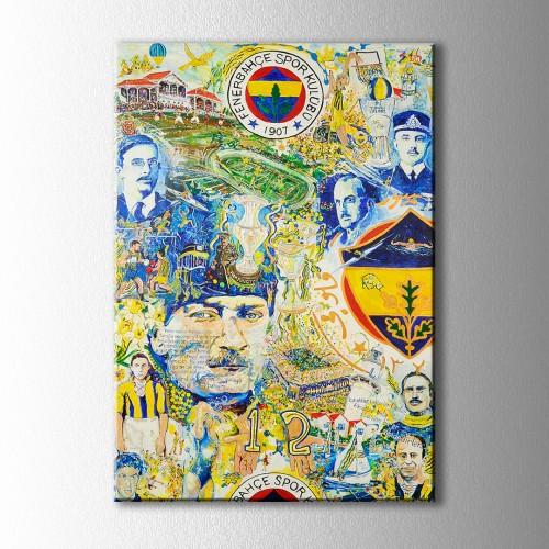Fenerbahçe Atatürk Kanvas Tablo