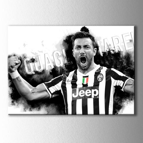 Fabio Quagliarella Juventus Siyah Beyaz Kanvas Tablo