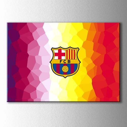 Renkli Barcelona Logo Kanvas Tablo
