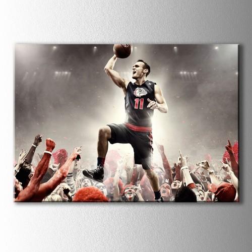 Taraftarın Sevgilisi Basketbolcu Kanvas Tablo