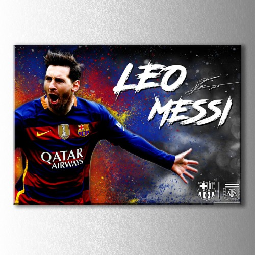 Leo Messi Kanvas Tablo