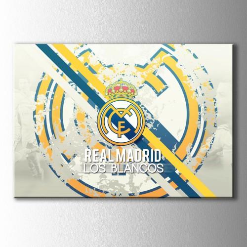 Los Blancos Real Madrid Logo  Kanvas Tablo