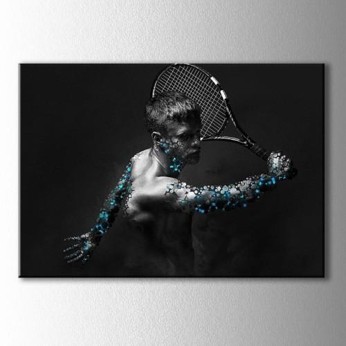 Tenis Siyah Beyaz Adam Kanvas Tablo