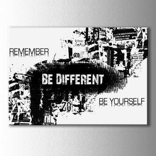 Be Different Tipografik Kanvas Tablo