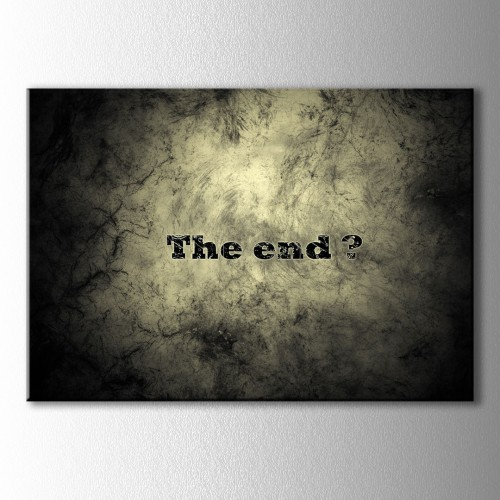 The End Kanvas Tablo