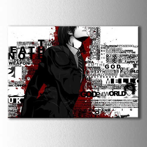 Tipografik Anime Kanvas Tablo