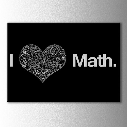 I Love Math Kanvas Tablo