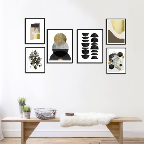 Altın ve Siyah Poster Set