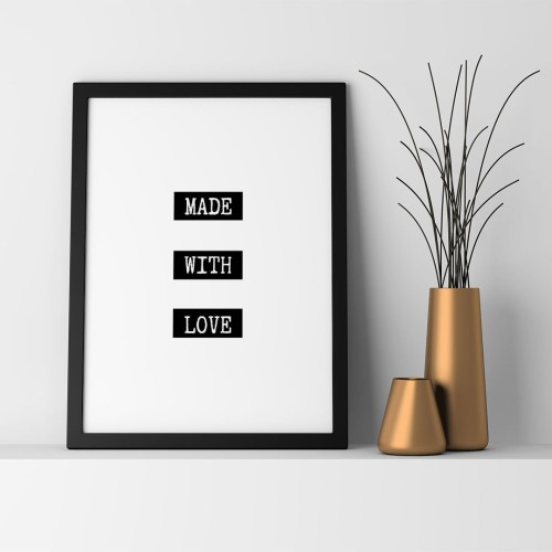 Made With Love Çerçeveli Poster