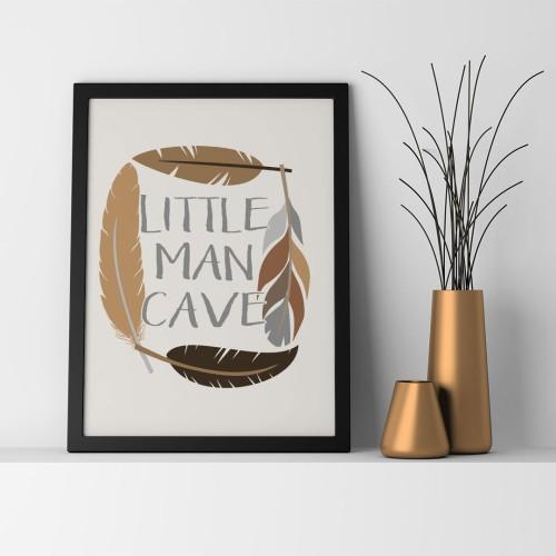 Little Man Cave Çerçeveli Poster