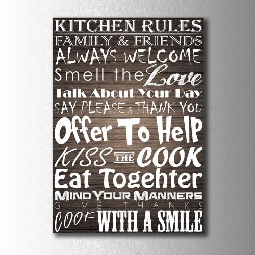 Kitchen Rules Kanvas Tablo