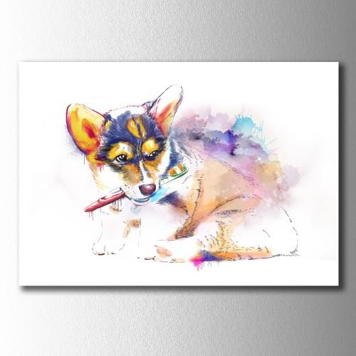 Kişiye Özel Çizim Evcil Hayvan Kanvas Tablo