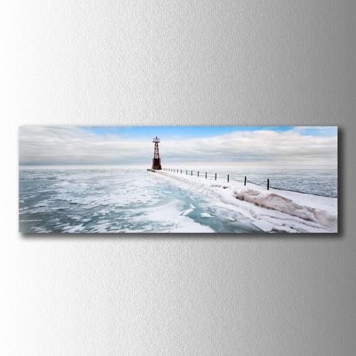 Buz ve Deniz Panaromik Kanvas Tablo
