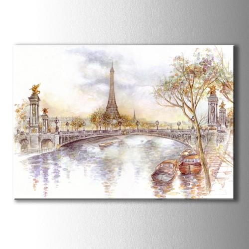 Çizim Paris Kanvas Tablo