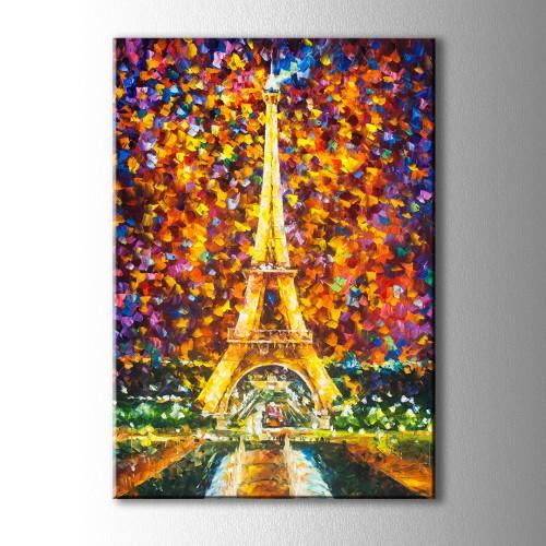 Paris Yağlıboya Görünümlü Kanvas Tablo