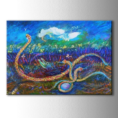 Renkli Yılanlar Kanvas Tablo
