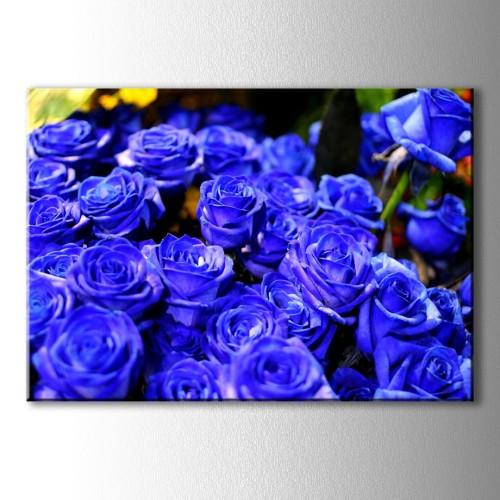 Mavi Güller Kanvas Tablo