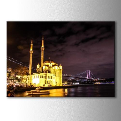 Ortaköy Camii ve Boğaz Kanvas Tablo