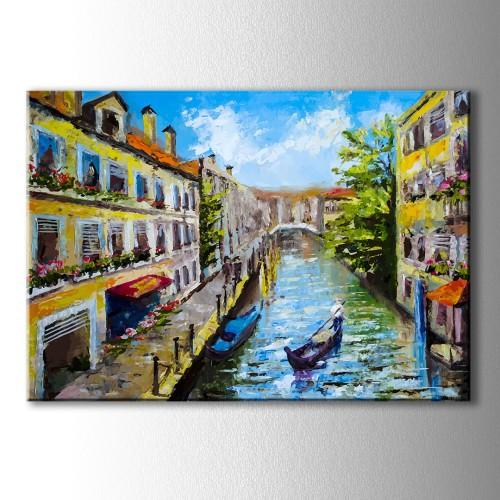 Yağlı Boya Venedik Görünümlü Kanvas Tablo