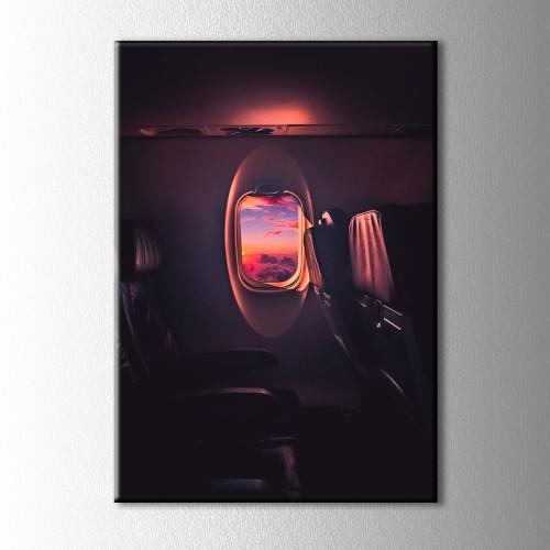 Uçak İçinden Kanvas Tablo