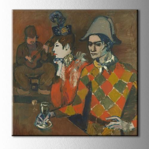 Picasso Au Lapin Kare Kanvas Tablo