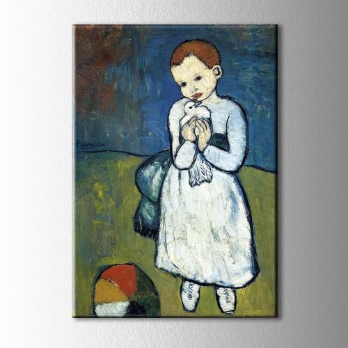 Picasso Güvercin Kanvas Tablo