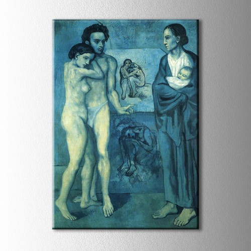 Picasso La Vie Kanvas Tablo