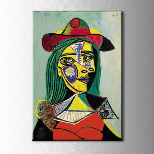 Picasso Woman İn Hat Kanvas Tablo