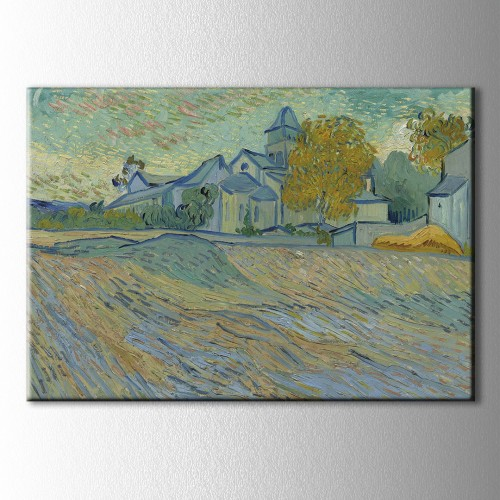 Van Gogh Asylum And Chapel Kanvas Tablo