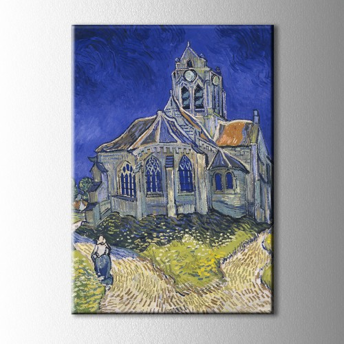 Van Gogh Church İn Auvers Kanvas Tablo